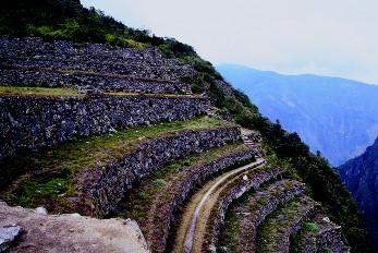 The incas for Terraced landscape definition
